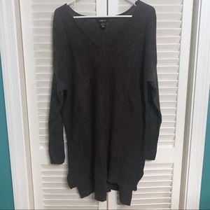 Style & Co grey tunic sweater cotton size large